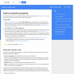 Add a website property - Search Console Help