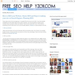 How to SEO your Website. Onsite SEO and Steps to ranking your site on Search Engines. Planning SEO.