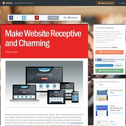 Make Website Receptive and Charming