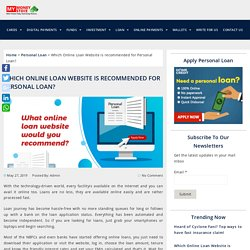 Which Online Loan Website is recommended for Personal Loan?
