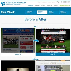 Before and After Website Design Samples by Blue Fountain Media