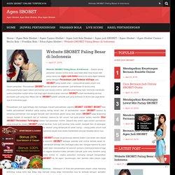 Website SBOBET Paling Besar Di Indonesia