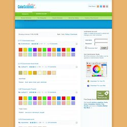 Website-ready color schemes for Color Schemer