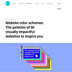 Website Color Schemes: The Palettes of 50 Visually Impactful Websites to Inspire You