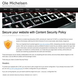 Secure your website with Content Security Policy
