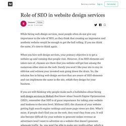 Role of SEO in website design services