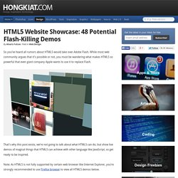 HTML5 Website Showcase: 48 Potential Flash-Killing Demos