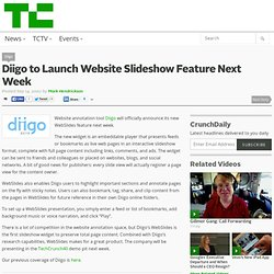 Diigo to Launch Website Slideshow Feature Next Week
