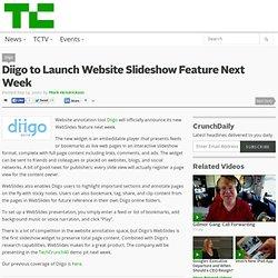 Diigo to Launch Website Slideshow Feature Next Week