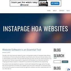 Website Software is an Essential Tool