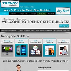 Flash Website Builder: Flash Web Design Software & Flash Templates