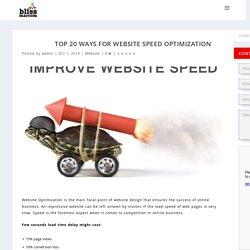 Top 20 Ways for Website Speed Optimization