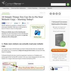 10 Simple Things You Can Do to Fix Your Website Copy – Starting Today!