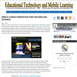 Here Is A Great Website for STEM Teachers and Students