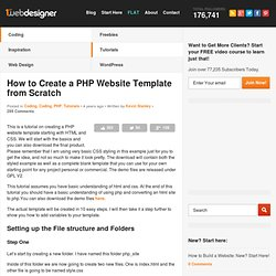How to Create a PHP Website Template from Scratch