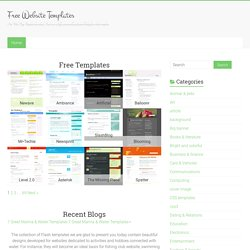 Free Website Templates for Download. Find free web layouts. Free Web Templates.