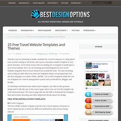 25 Free Travel Website Templates