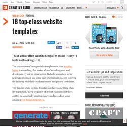 18 best website templates for various platforms