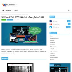 31 Free HTML5/CSS Website Templates 2014