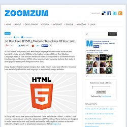 20 Best Free HTML5 Website Templates Of Year 2011
