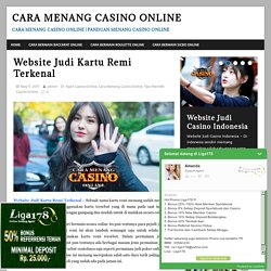 Website Judi Kartu Remi Terkenal