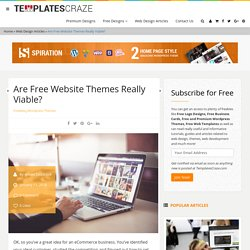 Are Free Website Themes Really Viable?