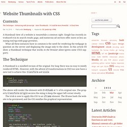 Website Thumbnails with CSS — Boldewyn's Website