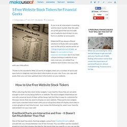 5 Free Website Stock Tickers for Financial Geeks