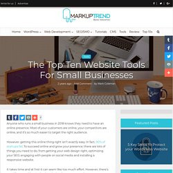 Top 10 Website Tools For Small Businesses