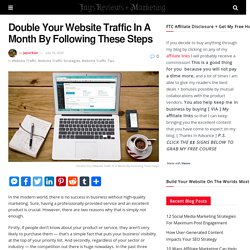 Double Your Website Traffic In A Month By Following These Steps