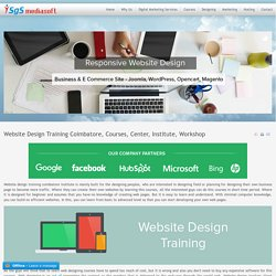 Website Design Training Courses In Coimbatore, Tirupur & Erode