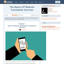 Learn Basics Of Website Translation Services