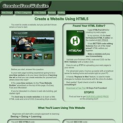 Create a Website | With HTML or a Free Website Builder