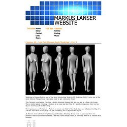 Markus Lanser Website - Tutorials - Cinema 4D - Low Poly Human Body Modeling
