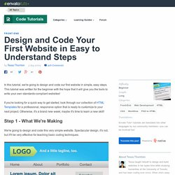 Design and Code Your First Website in Easy to Understand...