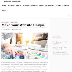 Make Your Website Unique