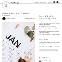 Annual Website Updates You Might Overlook - WEBii