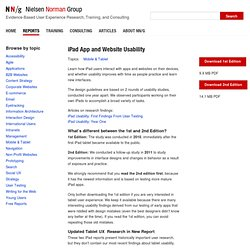 Usability of iPad Apps and Websites: Research Findings