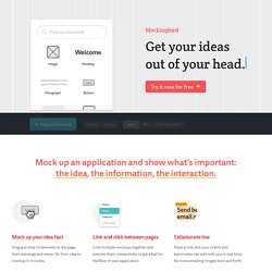 Website wireframes: Mockingbird