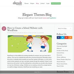 How to Create a School Website with WordPress