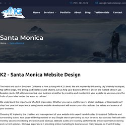 K2 - Santa Monica Website Design / SEO / WordPress / Hosting