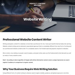 Cheap Website Writing Solution