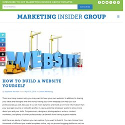 How To Build A Website Yourself