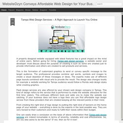 Tampa Web Design Services – A Right Approach to Launch You Online