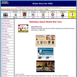 Websites about World War 2 (WW2) Homework for Kids