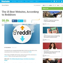 The 15 Best Websites, According to Redditors