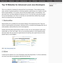 Top 10 Websites for Advanced Level Java Developers