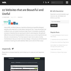 22 Websites that are Beautiful and Useful