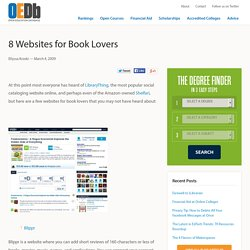 8 Websites for Book Lovers