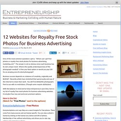 12 Websites for Royalty Free Stock Photos for Business Advertising